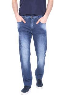 Calça Jeans Calvin Klein Jeans Slim Estonada Azul