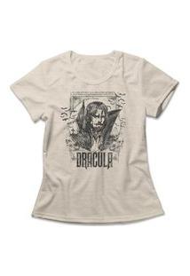 Camiseta Feminina Drácula Bege