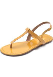 Rasteira Dafiti Shoes Lisa Amarela