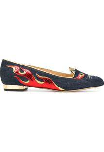 Charlotte Olympia Sapatilha 'Hot Kitty' - Azul