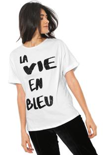 Camiseta Lez A Lez La Vie En Bleu Branca