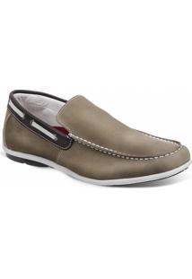 Sapato Masculino Dockside Sandro Moscoloni Malibu Marrom Claro - Masculino