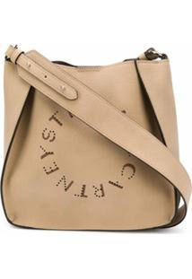 Stella Mccartney Bolsa Tiracolo Com Detalhe De Logo - Neutro