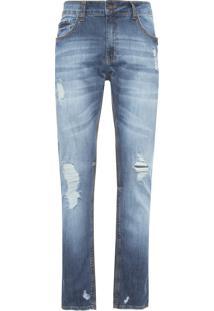 Calça Masculina Slim Oklahoma - Azul