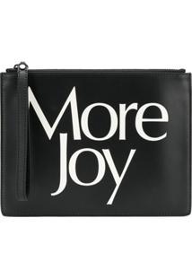 Christopher Kane Clutch 'More Joy' De Couro - Preto