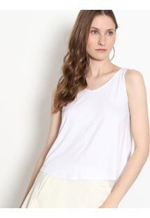 Blusa Com Fenda - Branca - Malweemalwee
