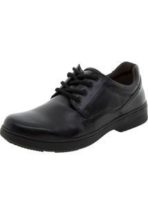 Sapato Masculino Social Com Cadarço Preto Pegada - 21202