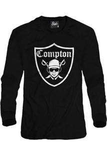 ab629540ce321 ... Casaco Moletom Skull Clothing Compton Masculino - Masculino-Preto