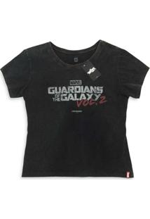 Camiseta Feminina Marvel Logo Guardiões Da Galáxia Volume 2 - Feminino