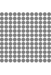 Adesivo De Parede Bolinhas Prata 144Un - Tricae