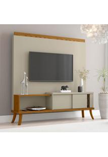Estante Para Home Theater E Tv Até 60 Polegadas Dior Off White E Cumarú