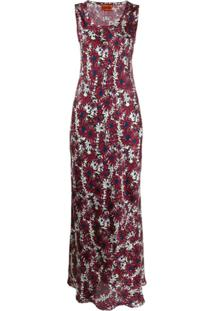 Colville Vestido Com Estampa Floral - Roxo