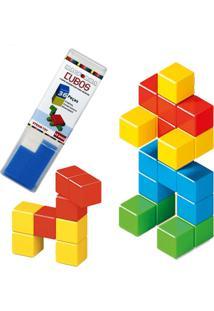 Forma Magnética,Cubos Magnéticos Brinquedo Educativo Imã 36 Peças - Kanui