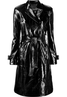 Pinko Trench Coat - Preto