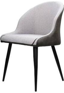 Cadeira Alexia Courino Cinza Escuro Base Preto 82Cm - 62860 - Sun House