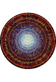 Tapete Love Decor Redondo Wevans Abstrato Ponto De Luz Multicolorido 94Cm