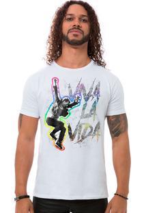 Camiseta Masculina Viva La Vida Branco B