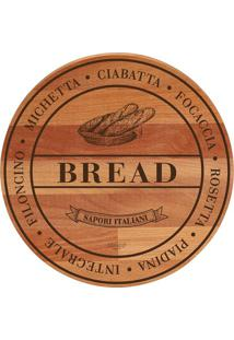 "Tábua Para Pães ""Bread"" Bisetti- Marrom Claro & Bege Escimeltron"