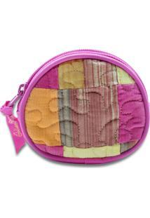 Porta Níquel Giulianna Fiori Beatrice Mimosa Em Patchwork Original - Tricae
