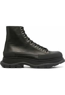 Alexander Mcqueen Ankle Boot Tread - Preto