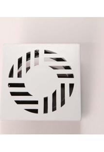 """Grelha Ralodengue Com Dispositivo Anti-Inseto Quadrada 10Cm 4"""" Branca Garaplas"""