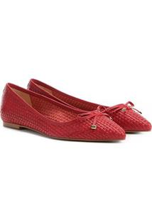 Sapatilha Couro Shoestock Tressê Bico Fino Feminina