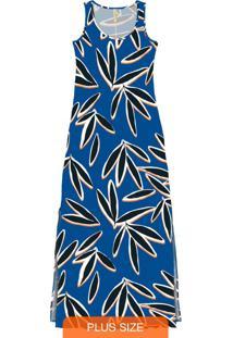 Vestido Malha Mvs Thirty Plus Azul