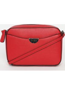 Bolsa Transversal Lisa- Vermelha- 15X21X6Cm- Gueguess