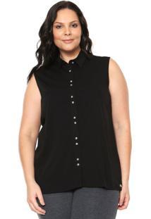 Camisa Cativa Plus Size Básica Preta