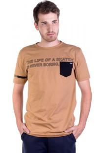 Camiseta Alongada Skater Camel