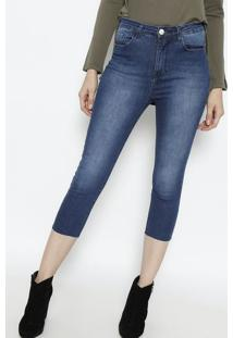 3bb830fccd ... Calça Aline Jeans Capri - Azul - Le Lis Blancle Lis Blanc