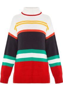 Allmost Vintage Blusa 'Wave' De Tricô Estampada - Listrado