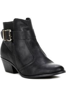Bota Ankle Boot Feminina Bebecê Preto