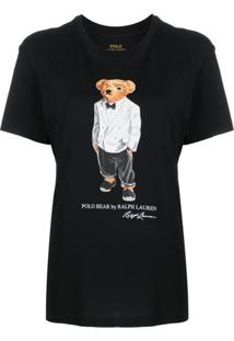 Polo Ralph Lauren Camiseta Polo Bear Com Logo - Preto