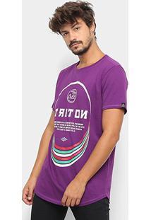 Camiseta Triton Estampada Oversized Masculina - Masculino-Roxo