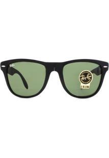 Óculos Ray Ban Wayfarer Folding/Dobrável Rb4105 601S-54 - Masculino-Preto