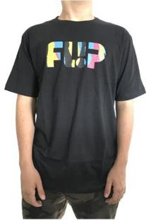 Camiseta Flip Odyssey Torn Neon Logo Masculina - Masculino