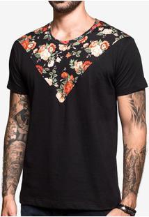 Camiseta Recorte Floral 103158