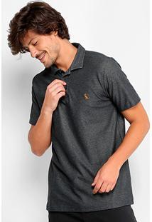 Camisa Polo Reserva Piquet Mesclada Masculina - Masculino