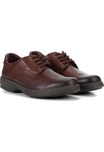 Sapato Social Pegada Perfuros Masculino - Masculino-Marrom Claro