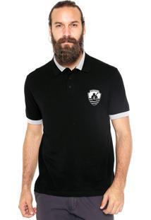 Camisa Polo Mr Kitsch Manga Curta Navy Preta