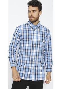 Camisa Com Bolso - Azul & Branca - Trend For Youtrend For You