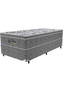 Cama Box Solteiro Springs Gray - Probel - Branco / Grafite / Prata