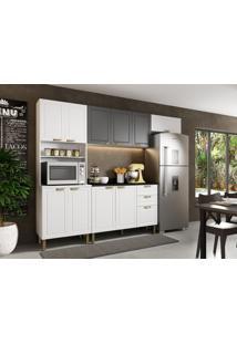 Cozinha Compacta Nevada V 10 Pt 3 Gv Branca E Grafite
