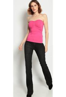 Blusa Tomara Que Caia Com Franzidos- Pink- Pacificpacific Blue