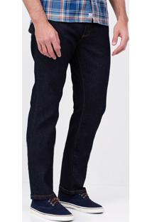 Calça Reta Em Jeans