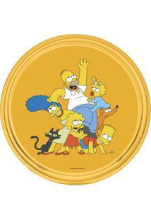 Bandeja Simpsons Redonda 30X30X3Cm Amarela Trevisan Concept