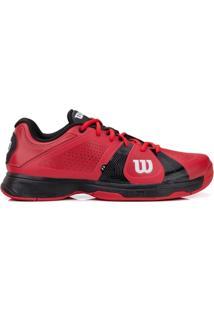 Tênis Wilson Rush Sport Vermelho E Preto-44 - Masculino