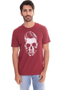 Camiseta Convicto Estampa Caveira Bordo