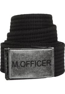 Cinto M. Officer Fivela Preto